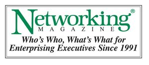 Networking Magazine Logo in Green w- TagLine